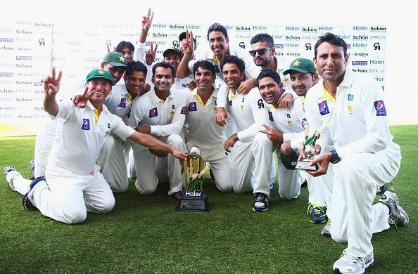 Pakistan is at the 7th position in the ICC Test rankings.