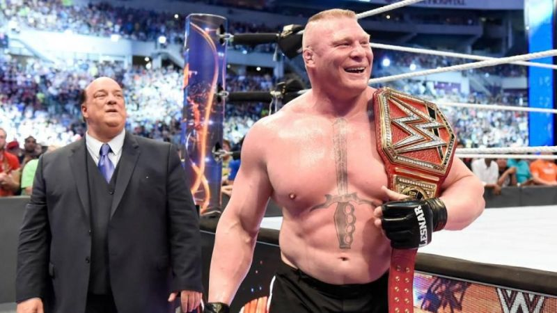 Brock Lesnar has an interesting history with the world title