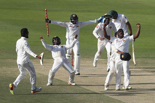 The Sri Lankan team