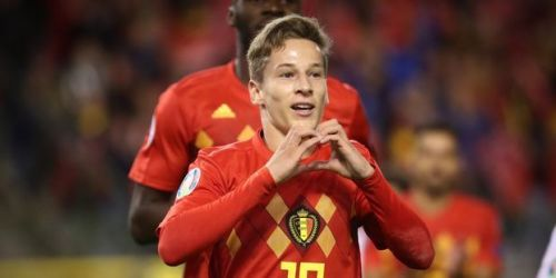 He certainly caught the eye on his home debut for Belgium's senior side, scoring one and being involved in another before FT