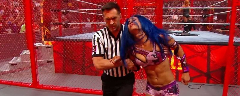 Sasha Banks after Hell in a Cell