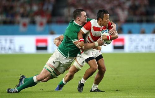 Japan has a chance to go above Ireland in Pool A with a win over Samoa.
