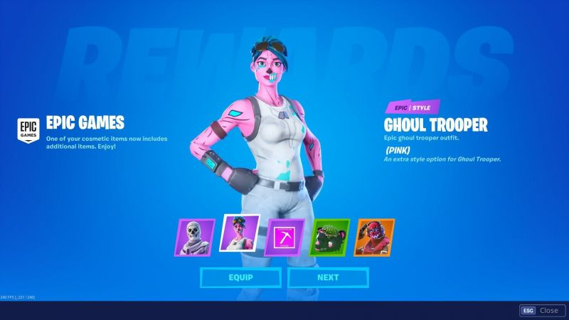 The new Ghoul Trooper outfit on Fortnite (Image credit: HYPEX - Fortnite Leaks & News, Twitter)