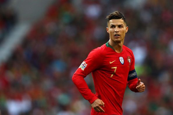Ronaldo in action for Portugal at the inaugural UEFA Nations League final.