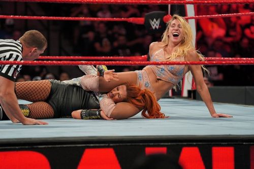 Charlotte fought hard but Becky picked up the win
