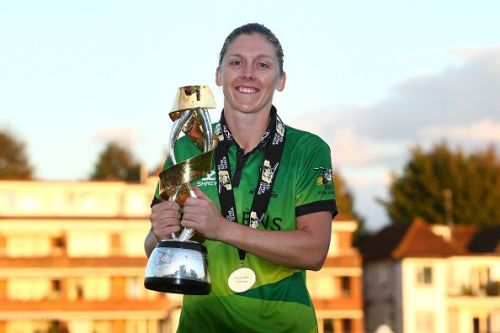 Heather Knight won the Player of the Match in the Kia Super League 2019 final