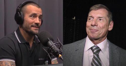 CM Punk and Vince McMahon.