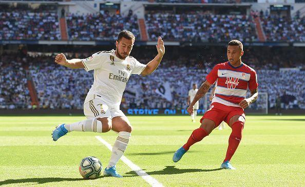 Eden Hazard scored his first goal for Real Madrid against Granada