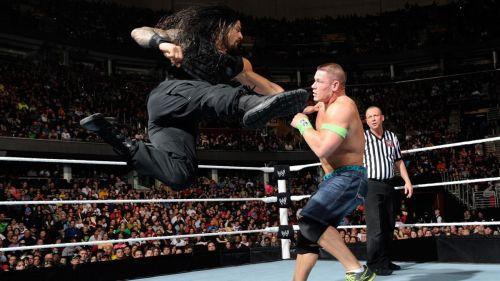 Reigns' Superman Punch on John Cena