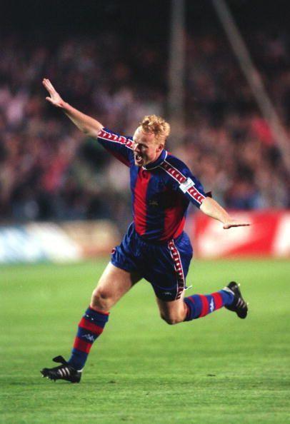 Ronald Koeman in Barcelona colours