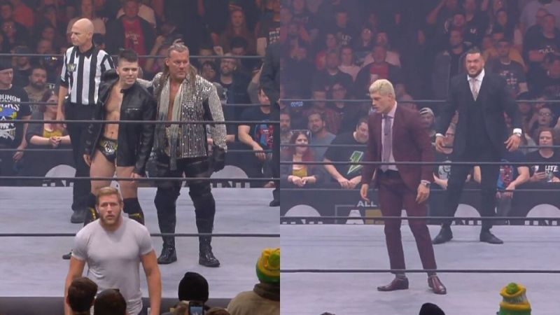 Chris Jericho and Sammy Guevara challenged for the AEW Tag-Team Championships
