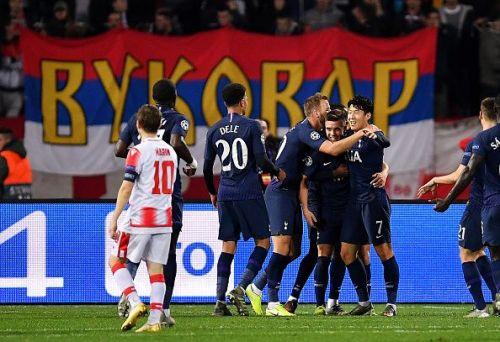 Tottenham were impressive in tonight's 0-4 win over Crvena Zvezda