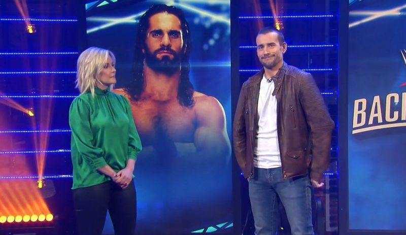 CM Punk with Renee Young