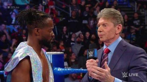 Vince McMahon and Kofi Kingston