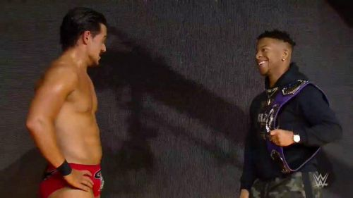 Angel Garza made a statement this week on NXT. Tonight, Lio Rush responded