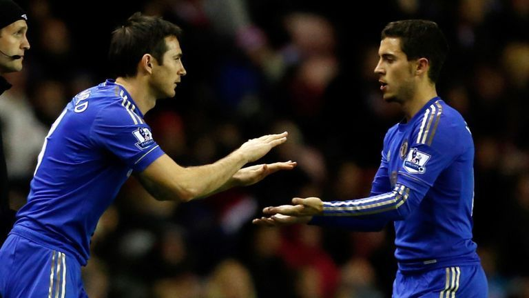 Lampard and Hazard played together for two seasons