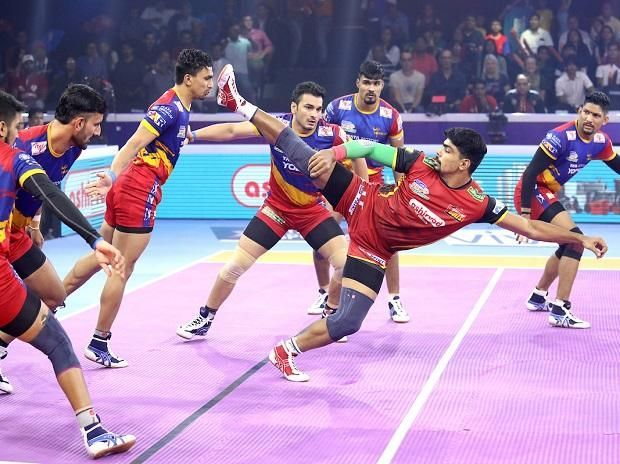 Pawan Sehrawat was in terrific form on the mat for the Bengaluru Bulls