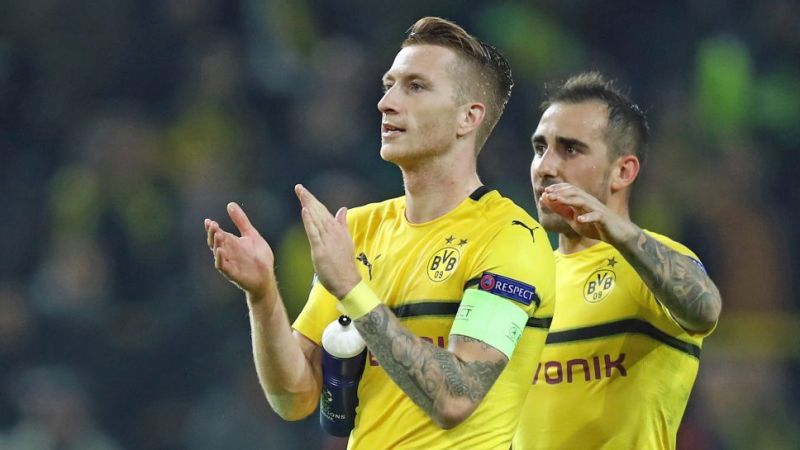 Marco Reus (left) and Paco Alcacer have scored five Bundesliga goals apiece this season