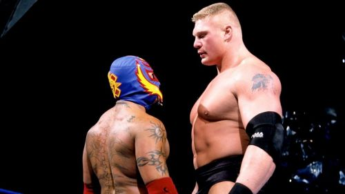 Rey Mysterio once recorded a victory over Brock Lesnar