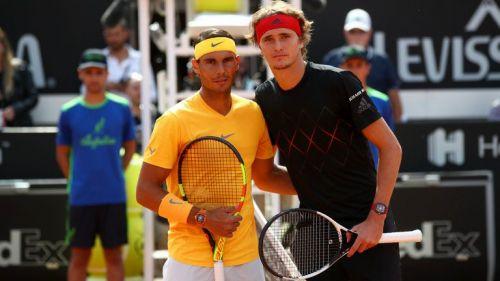 Rafael Nadal (left) vs Alexander Zverev
