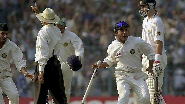 India celebrate after winning 2001 Kolkata Test against Australia