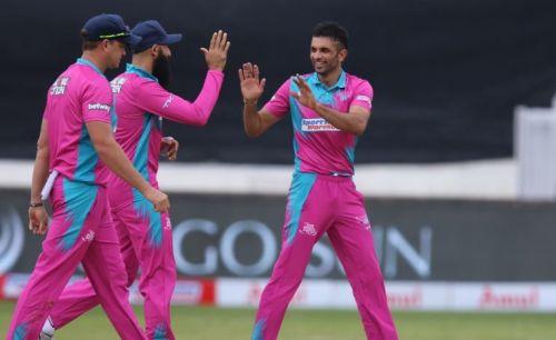 Keshav Maharaj bowled a deadly spell taking 3 wickets giving away just 15 runs