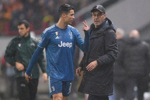 Ronaldo reacts to being subbed