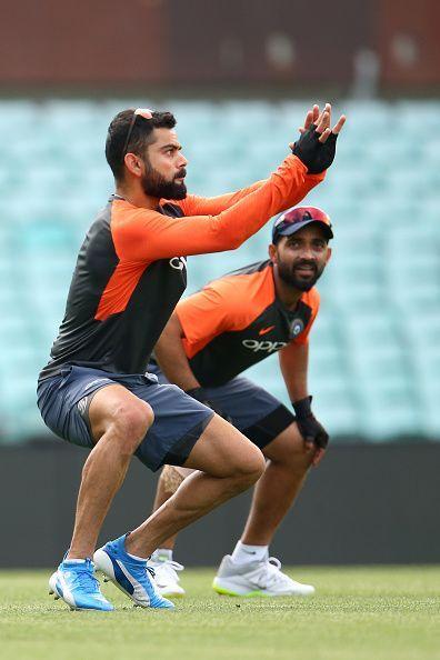 Virat Kohli during practice