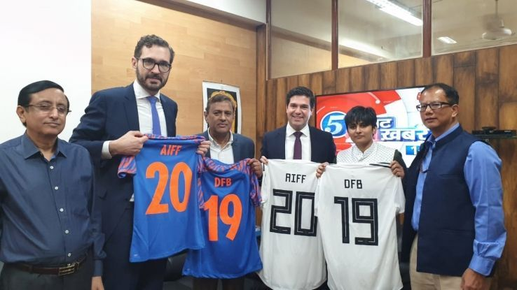 AIFF with DFB officials.