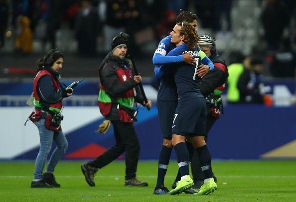 Griezmann is exultant in France colours.