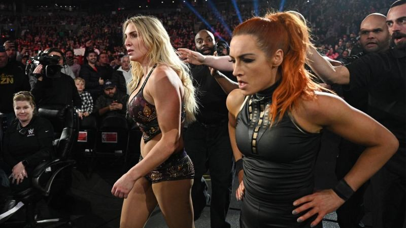 Charlotte and Becky on RAW