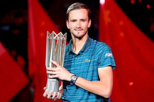 Daniil Medvedev with the 2019 Shanghai Masters trophy