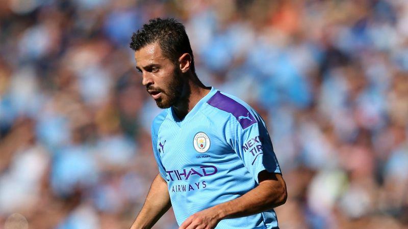 Bernardo Silva in action for Manchester City