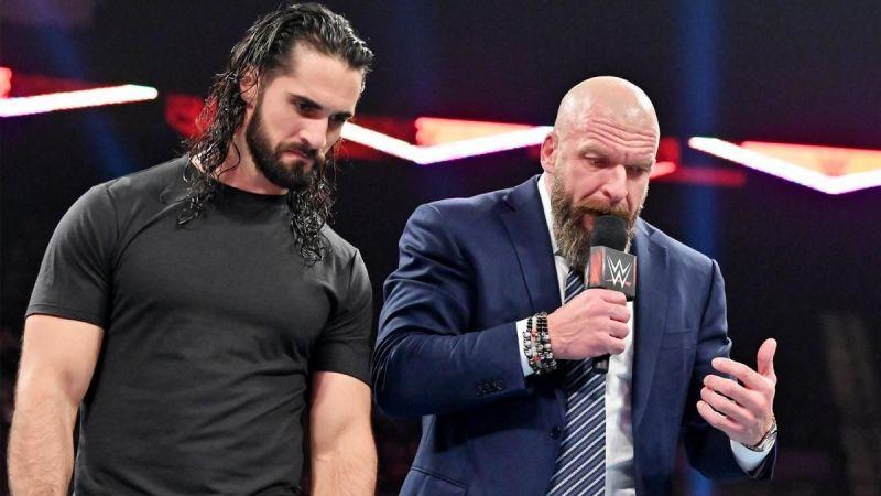 Triple H interrupted Seth Rollins