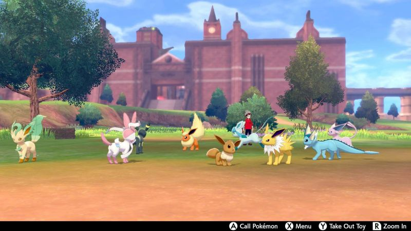 Image result for camping pokemon sword and shield eevee