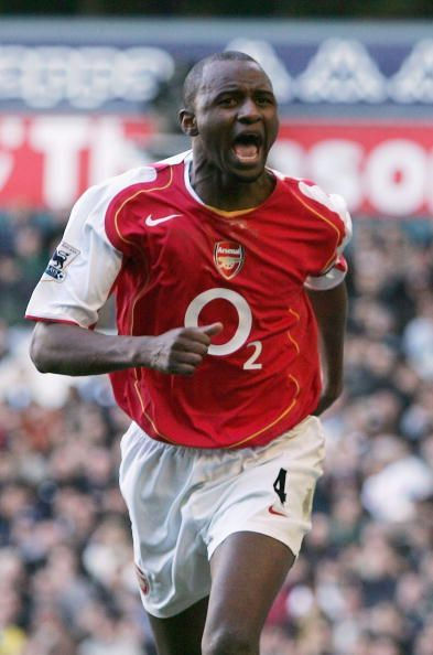 Patrick Vieira during his time as an Arsenal player