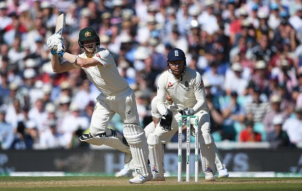 Steve Smith in action against England