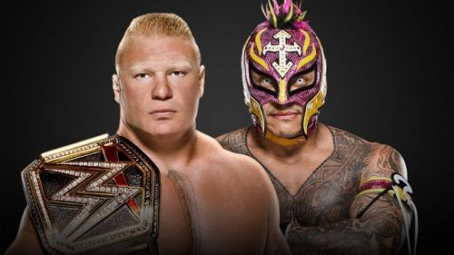 Brock Lesnar and Rey Mysterio
