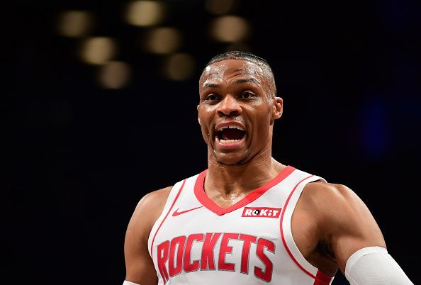 Russell Westbrook has been excellent for the Rockets but doubts remain over Houston