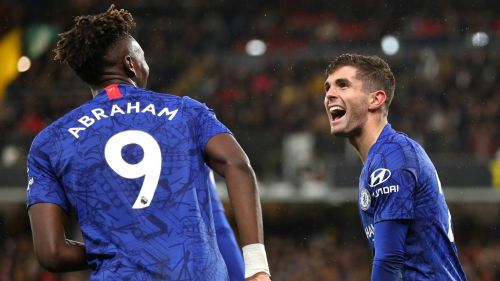 Tammy Abraham and Christian Pulisic - cropped