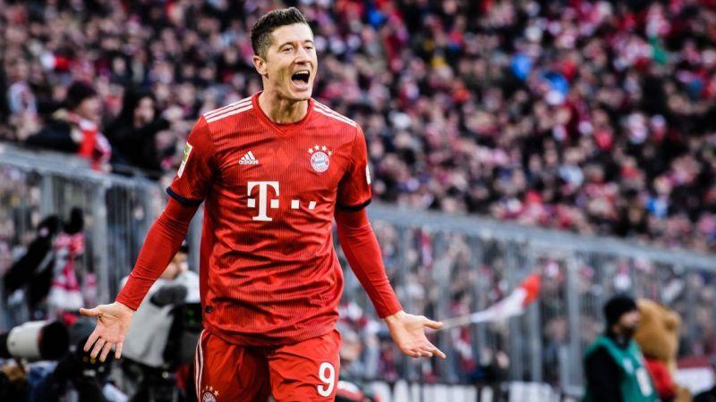 Robert Lewandowski is the leading marksman in the Bundesliga this season