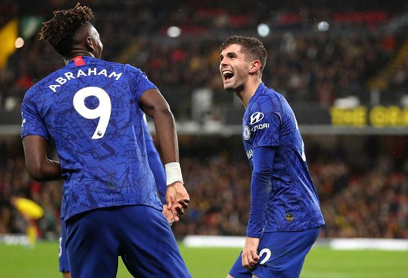 Goals from Tammy Abraham and Christian Pulisic helped Chelsea down Watford