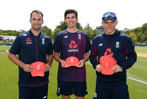 Lewis Gregory, Pat Brown, and Sam Curran received their debut T20I caps
