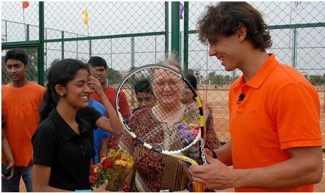 File photo from Rafael Nadal Foundation