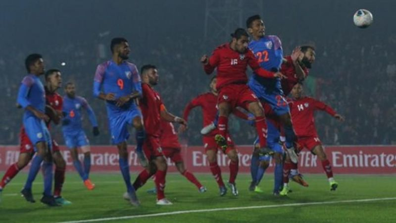 India and Afghanistan played out a 1-1 draw