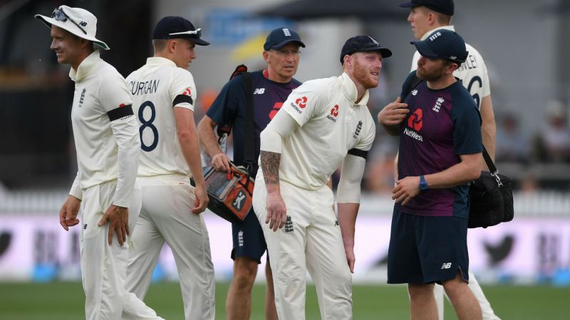 England all-rounder Ben Stokes complains of a left knee issue