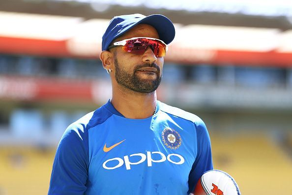 Shikhar Dhawan lost his wicket for a duck