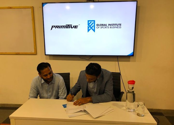 Karthik Ranganathan, Director - Primitive Sports and Neel Shah, Program Director - GISB during the signing of the agreement