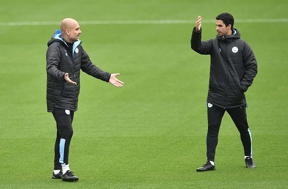 Mikel Arteta has been training under Pep Guardiola for a while now