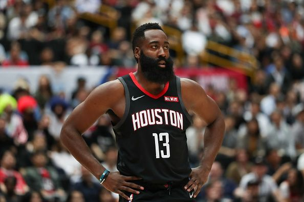 James Harden leads the league in points per game
